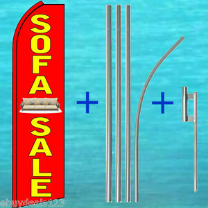 Sofa Sale Feather Flutter Flag 15 Tall Pole Kit Swooper Banner Vertical Sign