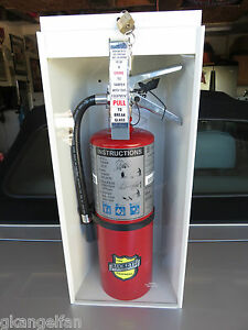 New 2018 5 lb Fire Extinguisher Complete W cabinet Glass Lock