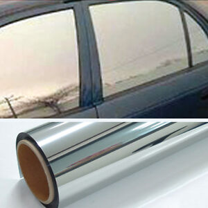 Chrome 20 Light Mirror Window Tint Film One Roll 10 Ft X 20 In Wide Lets In New