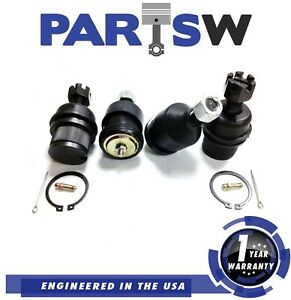 4 Piece Kit 4 Ball Joints For 03 09 Dodge Ram 2500 2500hd 3500 4x4 2 Yr Warranty