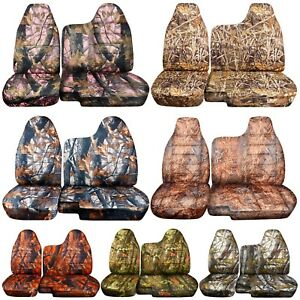 98 03 Ford Ranger Tree Camo Car Seat Covers 60 40 Split Bench W Molded Hr 35