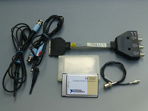 National Instruments Daqcard 5102 Ni Daq Scope Card Pcmcia W Adapter Probes