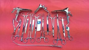 47 Pcs Gynecological Exam Instruments With Graves Speculum Forceps Kit