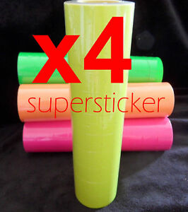 Yellow 40 Roll X 500 Tags Labels Refill For Price Gun For Mx 5500