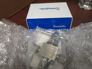 Swagelok Stainless Steel Ball Valve Ss 44xs6 sh vl New Surplus