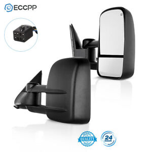Tow Power Heated Door Towing Mirrors Side Mirror Pair For 99 02 Chevy Gmc Truck