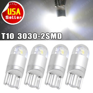 4x Super White T10 3030 2smd Led High Power Interior Light Bulb W5w 194 168 2825