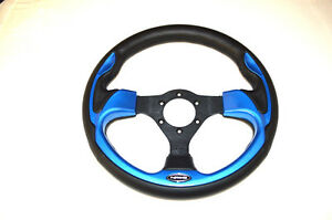 Nrg Sport Steering Wheel 320mm Sport Leather With Matte Blue Trim Universal