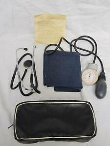 Vintage Russian Stethoscope Sphygmomanometer Set With Documents