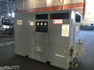 Atlas Copco 250 Hp Oil Free Air Compressor Model Zr 4c arr 2800 Load Hours