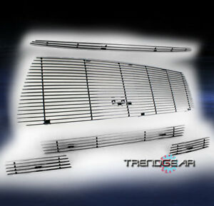 For 2010 2013 Toyota Tundra Hood Scoop upper bumper Billet Grille Grill Combo