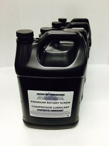 144046 055 Quincy 8000 Hour 1 Gal 4 Pack Synthetic Rotary Air Compressor Oil