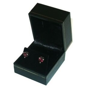 12 Classic Black Leatherette Earring Jewelry Display Packaging Gift Boxes