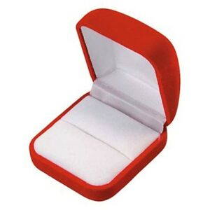 Lot Of 6 Red Velvet Ring Jewelry Packaging Display Gift Boxes Lg