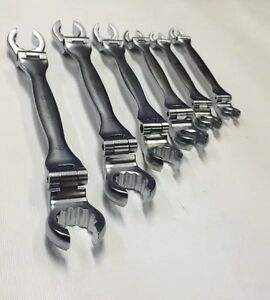 Astro Pneumatic 7118 Double Offset Flexible Flare Nut Wrench 6 Pcs Set Metric