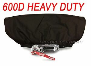Waterproof Soft Winch Dust Cover Driver Recovery 8 000 17 500 Lbs Capacity Blk