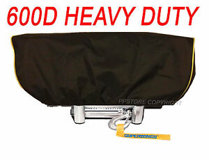 Waterproof Winch Dust Cover Driver Recovery 8500 17500 Lbs Capacity Yellow Str
