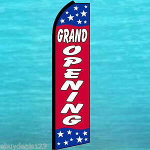 Grand Opening Swooper Flag Tall Flutter Feather Advertising Sign Banner 25 1991