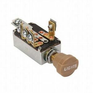 Universal Headlight Switch With Hi low Beam 3 8 Mounting Hole Hot Rod Rat