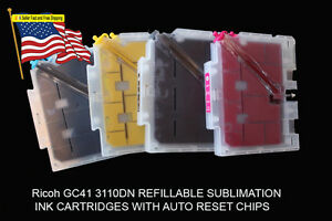 Fits Ricoh Gc41 Sublimation Ink Cartridge 7100dn Includes Ink 4 Bottles 100ml