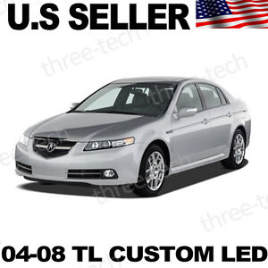 04 08 Acura Tl Tl s Led Interior Light Xenon White Front Map Rear Dome Jdm Style