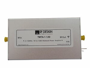 100mhz Twta 1 120 Wideband Low Power Amplifier Po 30dbm Rf Design Hf