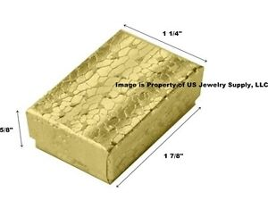 Wholesale 500 Small Gold Cotton Fill Packaging Gift Boxes 1 7 8 X 1 1 4 X 5 8