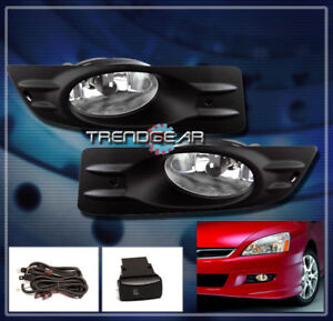 For 2006 2007 Honda Accord Ex Lx Coupe 2dr Bumper Chrome Fog Light Lamp Bulb Set