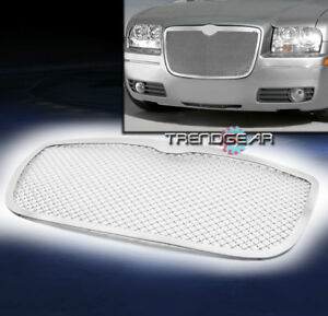 2005 2010 Chrysler 300 300c Front Upper Stainless Steel 2 5mm Mesh Grille Chrome