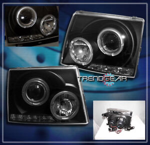 For 1997 2000 Toyota Tacoma Halo Led Projector Headlights Lamps Black 1998 1999