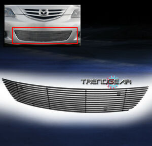 2004 2005 2006 Mazda 3 Sport Hatchback Front Bumper Lower Billet Grille Polished