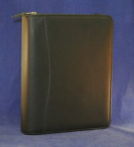 1 25 Rings Classic Franklin Covey Genuine Leather Zip Binder Black