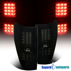 2009 2014 Ford F150 Pickup Led Brake Lamps Tail Lights Glossy Black