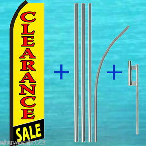 Clearance Sale Swooper Flag Pole Mount Kit Tall Flutter Feather Banner Sign