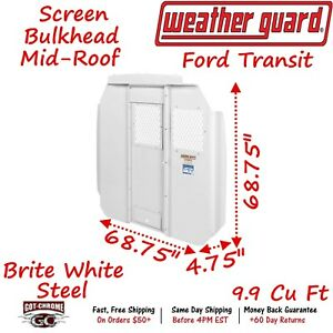 96312 3 01 Weather Guard Steel Mid roof Bulkhead With Mesh Window