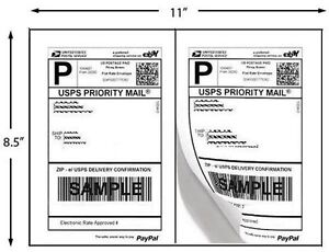 Shipping Labels Address 2 Per Sheet 1000 Self Adhesive Usps Paypal Ups Ebay Inkj