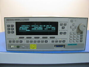 Agilent 83623b High Power Swept signal Generator 0 01 20 Ghz Op 004 008
