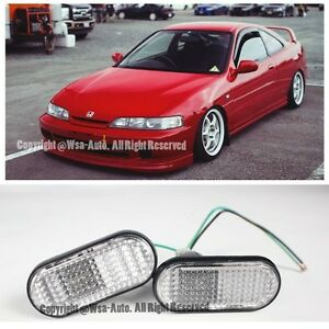 For 94 01 Acura Integra Jdm Flat Replacement Clear Fender Light Side Marker