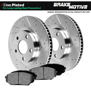 Front Drilled And Slotted Brake Rotors Metallic Pads Cherokee Xj Wrangler Tj
