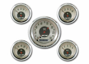 Classic Instruments All American Nickel Series 5 Gauge Set An00shc Speedo Tach