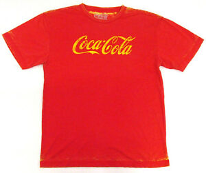 Vintage Coca-Cola T-shirt Distressed Acid Wash Coke Pop Art Soda Adult LARGE