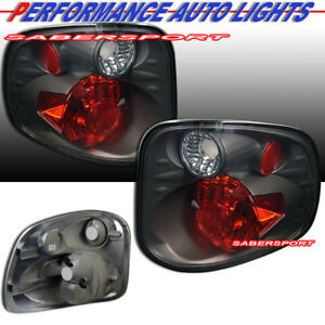 Set Of Pair Smoke Taillights For 2001 2003 Ford F 150 Supercrew Flareside Bed