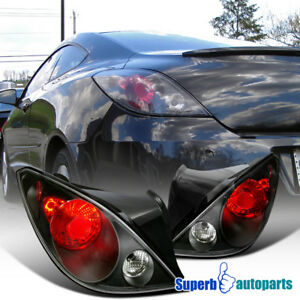 For 2006 2009 Pontiac G6 Replacement Tail Lamps Brake Lights Black