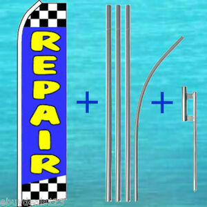 Repair Flutter Flag 15 Tall Pole Mount Kit Auto Feather Swooper Banner Sign