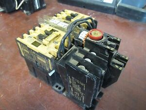 Allen bradley Reversing Contactor 100 a09nd3 W 193 bsb60 Overload Relay Used
