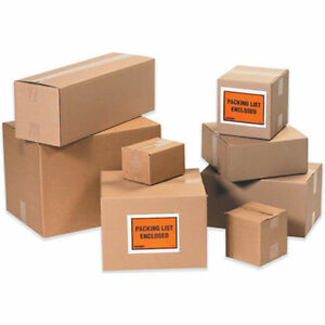100 7x5x4 Cardboard Shipping Boxes Cartons Packing Moving Mailing Box
