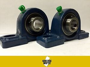 2 Pieces 2 3 16 Pillow Block Bearing Ucp211 35 Solid Base P211