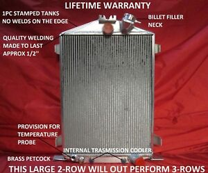 Aluminum Radiator 1932 Ford Street Rat Rod High Hi Boy