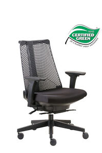 Boss Office Products Contemporary Mid back Mesh Executive Chair W Arms B6550 bk