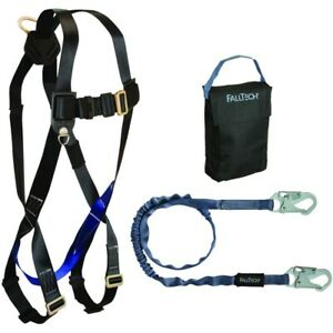 Falltech Fall Protection Safety Harness With Attached 6 Lanyard 8080